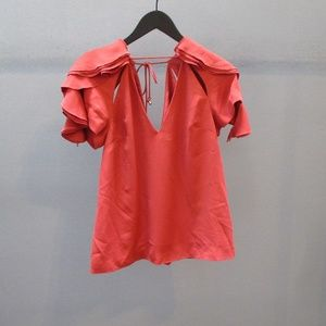 C/MEO Collective Gossamer Short Sleeve Top NWOT